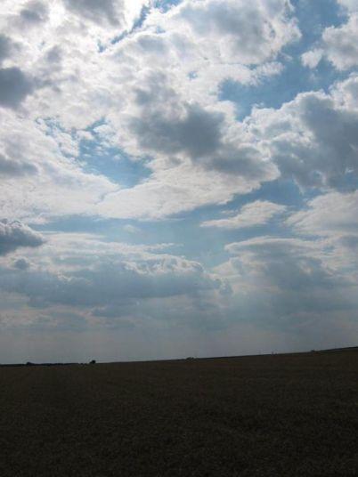 Oblaci nad poljem